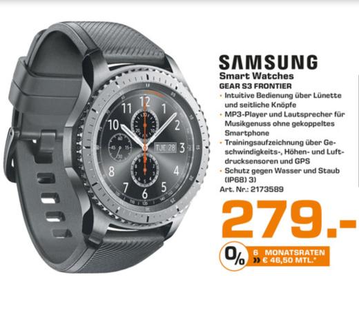 [Lokal Saturn Köln Weiden] Samsung Gear S3 Frontier  279€
