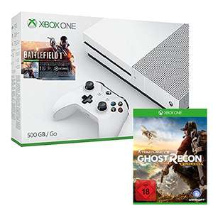 Xbox One S 500 GB + Battlefield 1 + Tom Clancy's: Ghost Recon Wildlands für 275€ (Amazon)