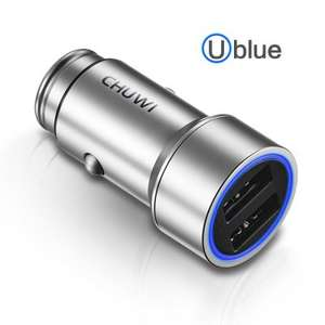 CHUWI Ublue C - 100 Dual USB Smart Car Charger  - SILVER