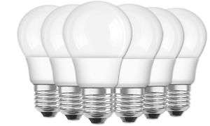 [ebay] OSRAM LED Base Classic A / LED-Lampe in Kolbenform mit E27-Sockel / Nicht Dimmbar / Ersetzt 60 Watt / Matt / Warmweiß - 2700 Kelvin im 6er-Pack
