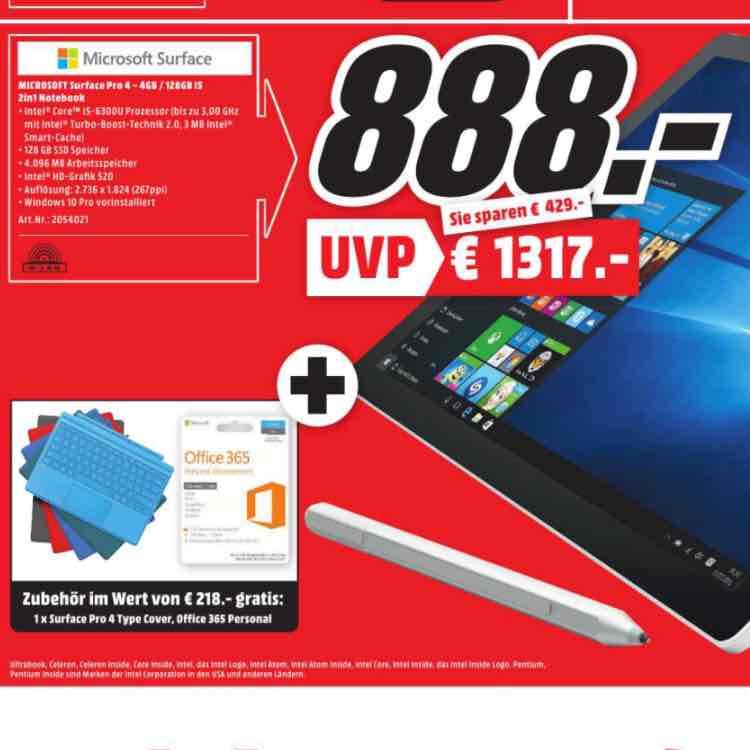[MM Mannheim] Surface Pro 4 i5 4GB 128GB