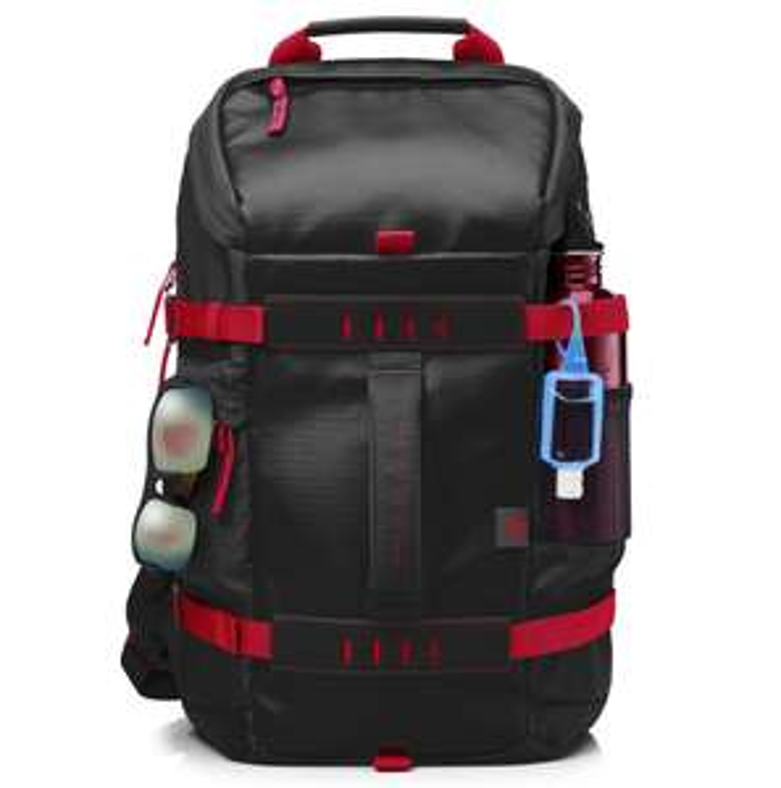 HP 15.6 Zoll Odyssey-Rucksack, schwarz/rot