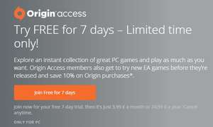Origin Access Jahresabo 24,99 Euro mtl. 2,08 Euro [PC only] | 7 Tage Test - Vorabzugang zu ME Andromeda