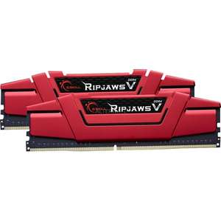 "G.Skill RAM Kit ""DIMM 32 GB DDR4-2133"" - 288-Pin - (F4-2133C15D-32GVR, Ripjaws V, rot)"