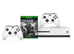 Xbox One S 500GB + 2. Wireless Controller + Gears of War 4 für 253,56€ (Microsoft UK)