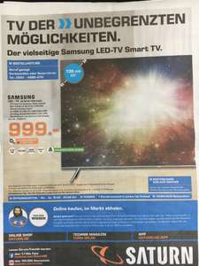 Samsung UE 55 KS 7090 UXZG - AKTION- VK: 999,- Saturn Göttingen