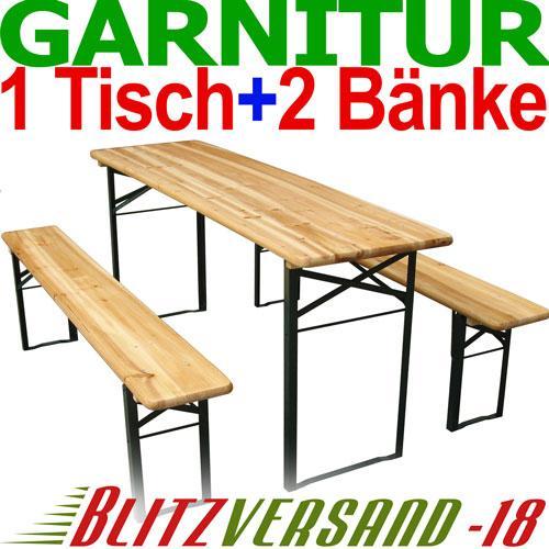 Bierzeltgarnitur Biertisch Bierbank Biertischgarnitur Garten