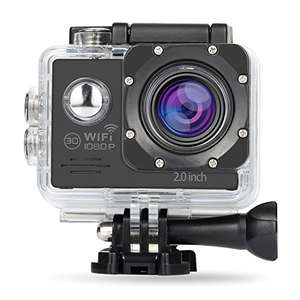 [Blitzangebot] NexGadget Action Camera WIFI 12MP 2,0 Zoll, FHD 1080P Sport Action Kamera Cam IP68 Wasserdicht 140 ° Weitwinkel | PVG 45,99