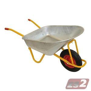 [ebay] Schubkarre mit 120 Liter Fassungsvermögen (Stahl verzinkt) und Luftrad