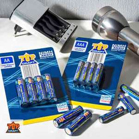 [ALDI NORD] ab 20.03. Ready-to-Use Akkus bei ALDI - TOP CRAFT - 4x AA und 8x AAA für 3,69€ pro Packung