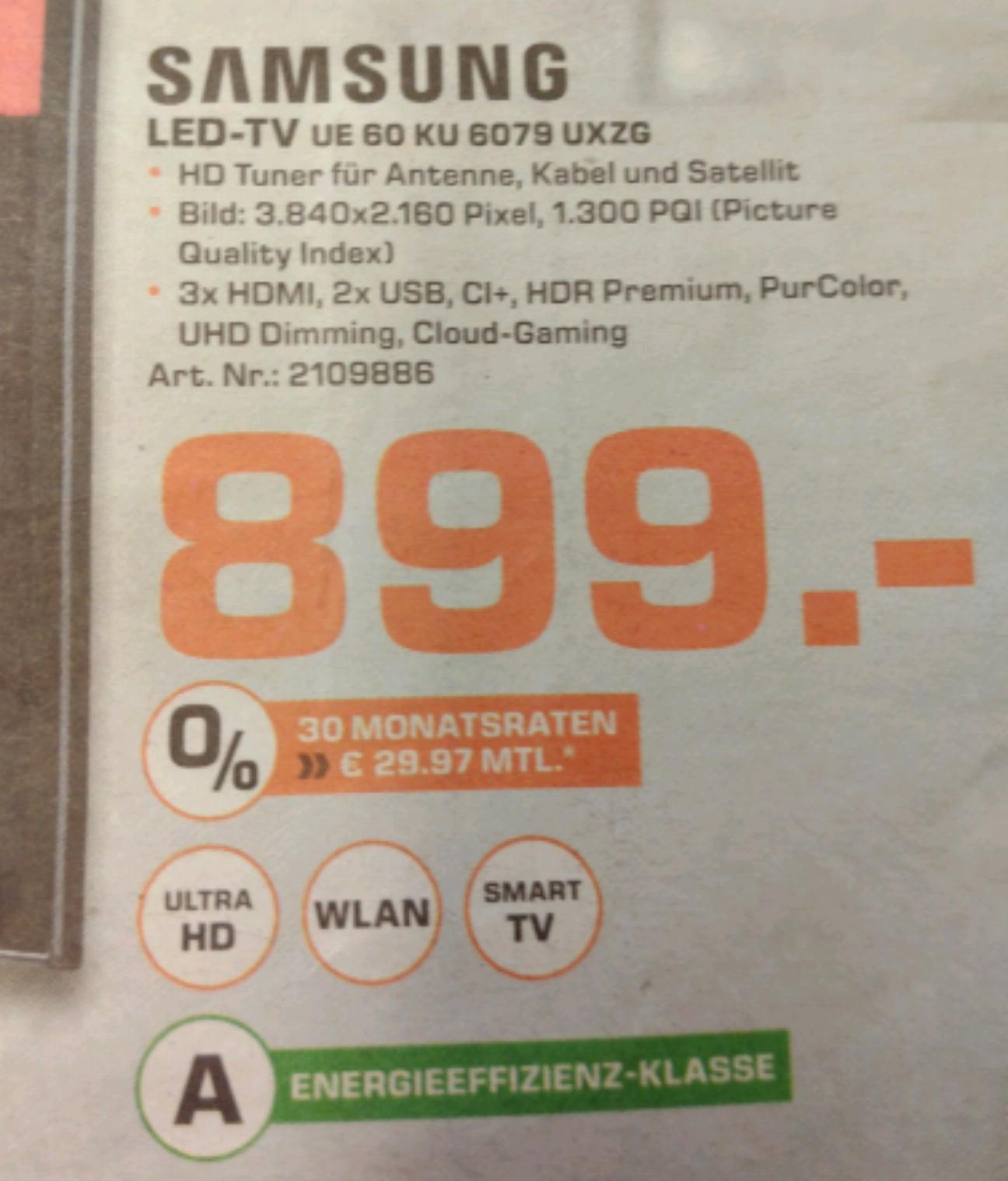 Samsung UE 60 KU 6079 UXZG