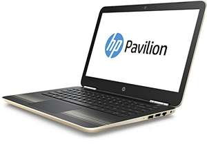 [Amazon] HP Pavilion Laptop (14-al006ng) 35,6 cm (14 Zoll/Full-HD IPS Display) Notebook (Intel Core i7-6500U, 8GB RAM, 1TB HDD, 128GB SSD, NVIDIA GeForce 940MX 2GB DDR3, Windows 10) gold