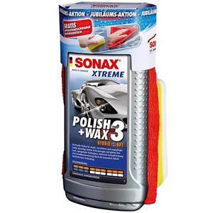 Sonax XTREME Polish&Wax 3 500ml 65 Jahre inkl. gratis Schwamm und Mikrofasertuch @Ebay 11,99€