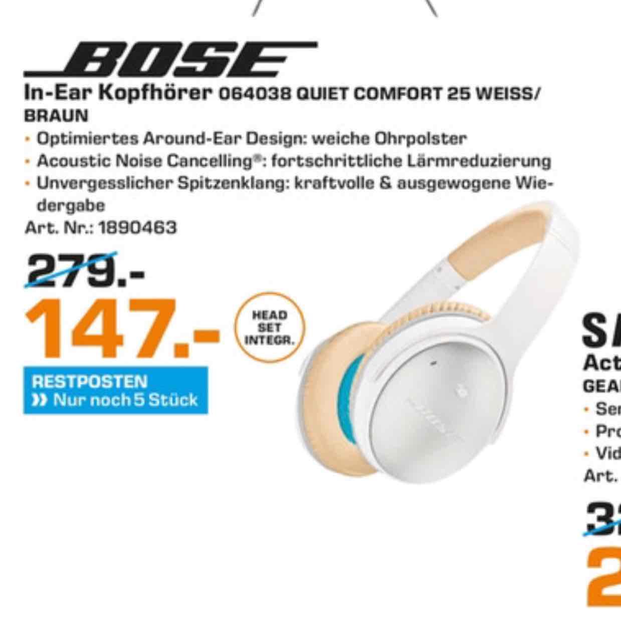 Lokal:Saturn Hattingen Bose QC 25 für 147,00 Euro