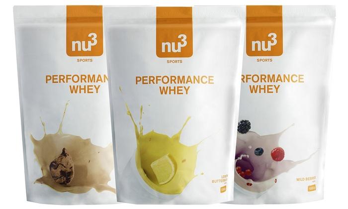 Nu3 Performance Whey Protein Pulver 3x 1000g + Versand für 22,98€