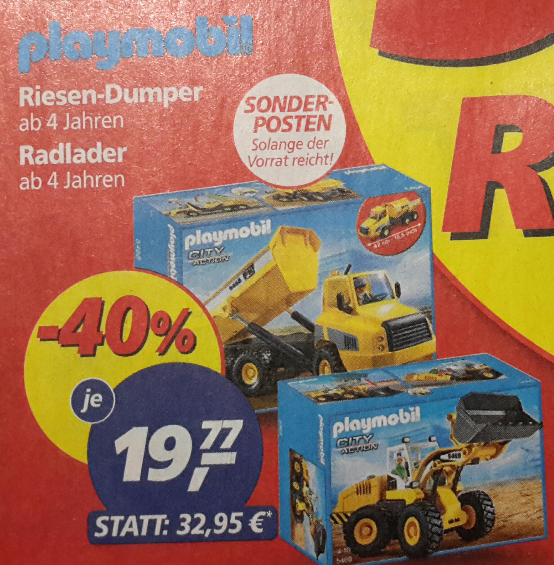 [Real on- und offline] Playmobil Radlader und Riesen-Dumper für je 19,77 € ab 20.03.17