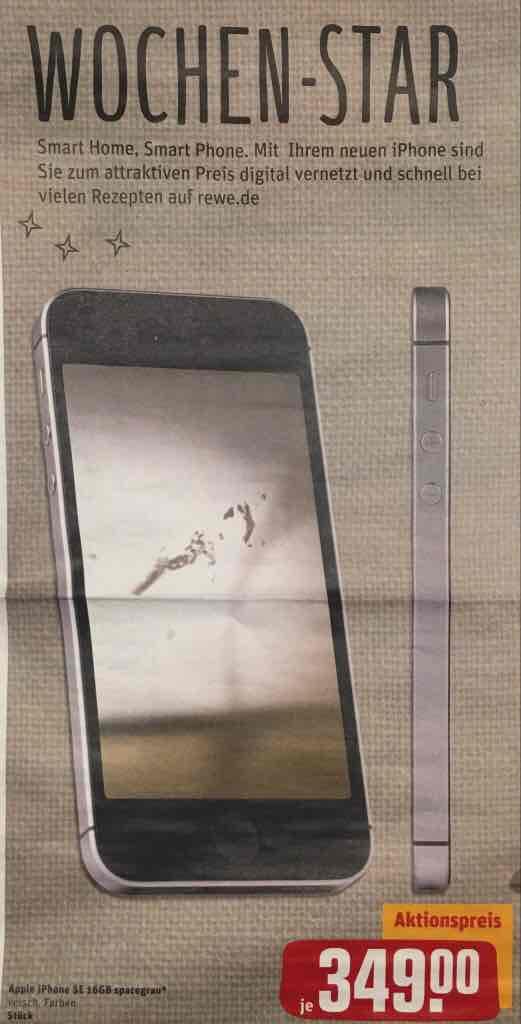 [Rewe Center Bundesweit] iPhone SE 16 gb