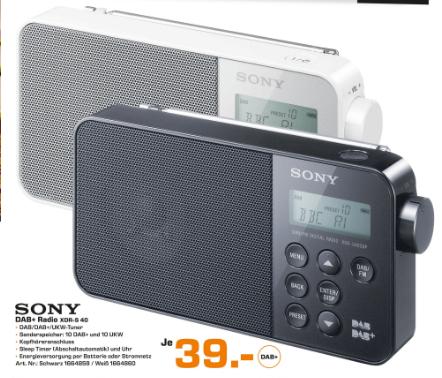 [Saturn München] DAB Radio von Sony XDR-S40