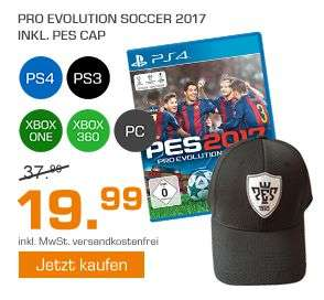 Pro Evolution Soccer 2017 alle Konsolen inc. Basecap für je 19,99€ [Saturn Weekend Deals]