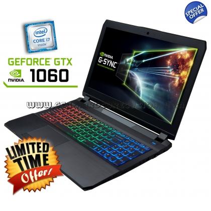 CLEVO P650RP6-G (15,6'' FHD IPS matt G-Sync, i7-6700HQ, 8GB RAM, 275GB Crucial MX300 SSD, Geforce 1060 mit 6GB, Wlan ac + Gb LAN, bel. Tastatur, Wartungsklappe, FreeDOS) für 1256,64€ [CEG]