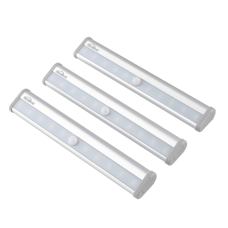 Kealive Schrankleuchte Bewegungsmelder Licht mit 10 LED Leuchten 7 Stück für 24,48€ (1x ca. 3,50€) 3 Werbeaktionen 65% Rabatt [Amazon]