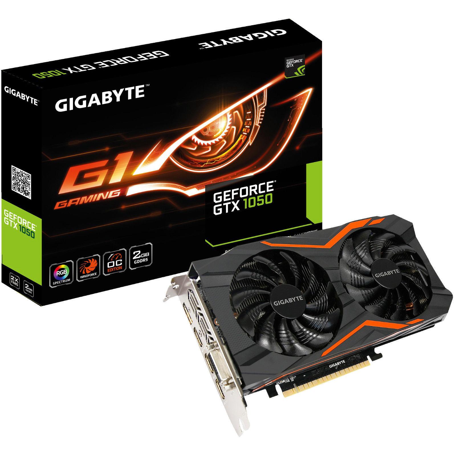 GIGABYTE GeForce GTX 1050 G1 Gaming OC 2GB (GV-N1050G1-2GD) für 107 € bei Mediamarkt @ ebay