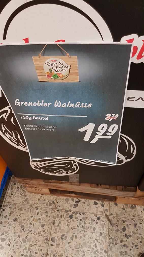 Grenobler  Walnüsse 750 g 1.99€ statt 3.79 im Real