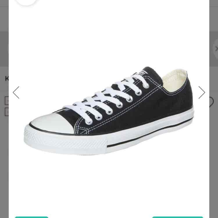 Chucks Converse OX Sneaker schwarz