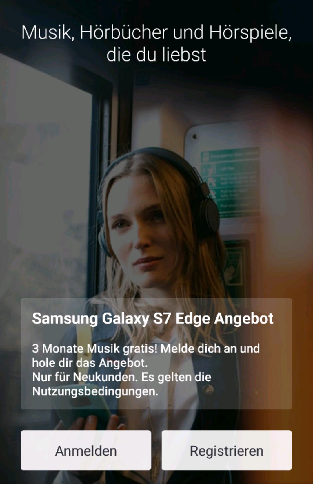 3 Monate Gratis Deezer / Nur für Samsung galaxy S7 (Edge)