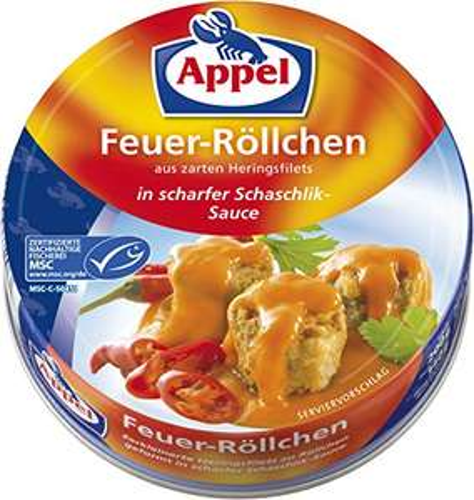 Appel Feuer-Röllchen, Schaschlik-Sauce, 12er Pack (Amazon Prime)