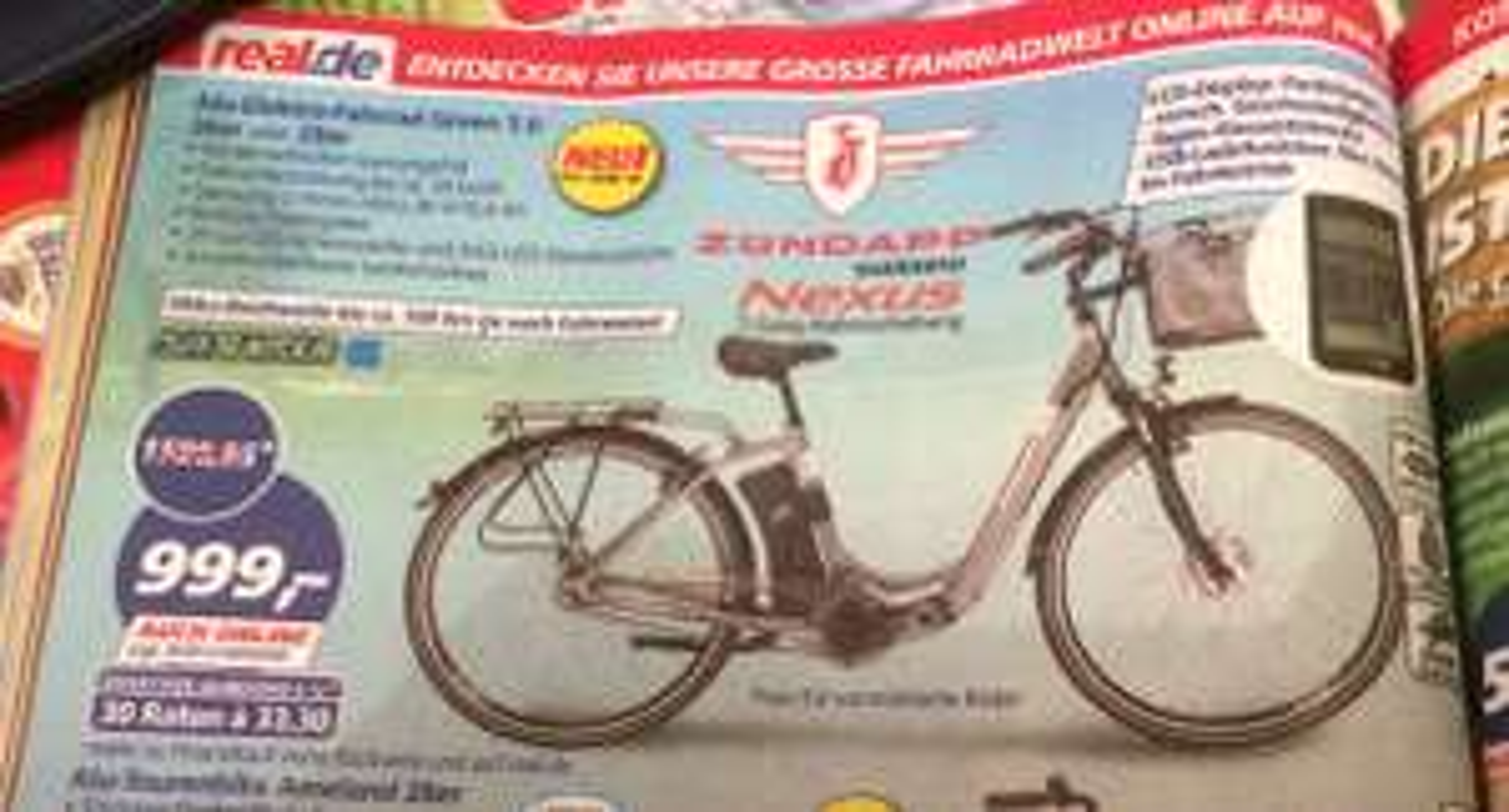 Günstige e-Bikes dank 150€ Rabatt bei [real]