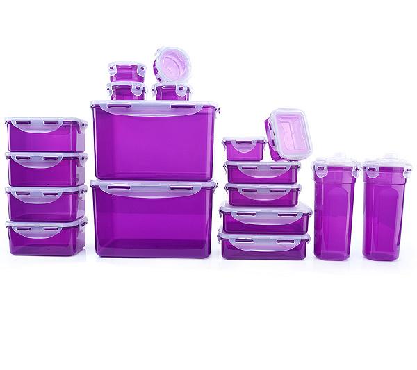 Lock&Lock Frischhaltedosen stapelbar 100ml - 4,5l 18 Dosen für 24,98€ bzw. 18,93€ für Neukunden bei [QVC]