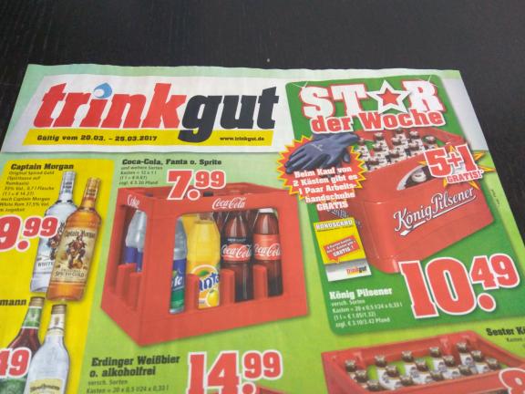 Trinkgut: 6 Kisten König Pilsner für  52,45€ (~8,75€ / Kiste)