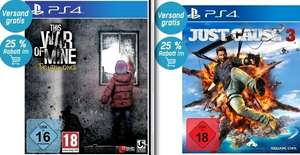 [redcoon] This War of Mine (PS4) für 13,49€ oder Just Cause 3 (PS4) für 19,87€