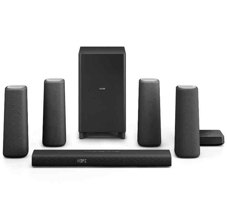 [Amazon.de] Philips Zenit 5.1 kabellose Sourround-Kinolautsprecher