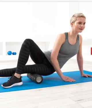 """Massagerolle oder Massageball """"Double Ball'' für die Elastizität der Faszien auch Online bestellbar"""