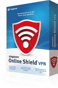 Steganos Online Shield VPN 1 Jahr, 5 Computer, 2 GB pro Monat