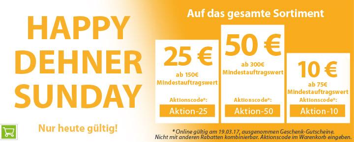 Dehner: bis -16,7% am Happy Dehner Sunday