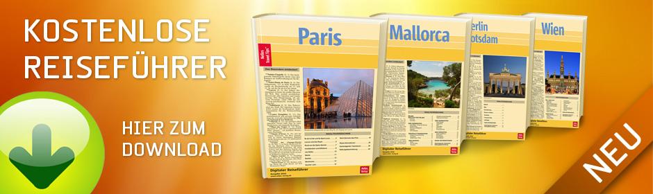 Kostenlose E-Book Reiseführer  Ihnen stehen 51 aktuelle und hochwertige Reiseführer zur Auswahl!