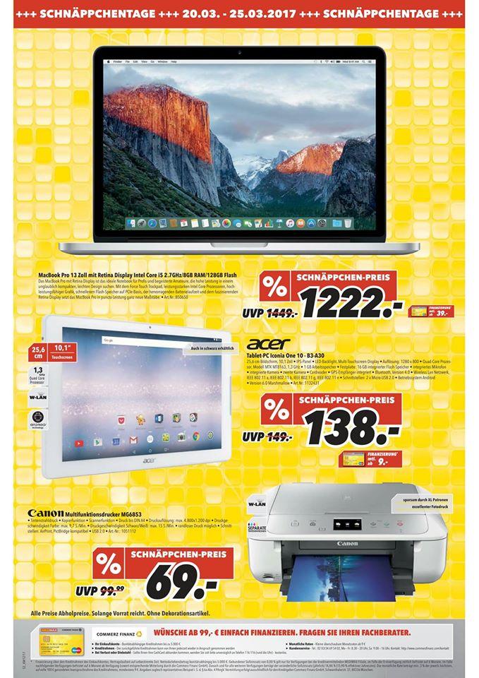 [lokal] Medimax 2x Gera, Zeitz & Glauchau - z.B. Canon Pixma MG6853 Silber/Weiß 69,- € und andere gute Angebote