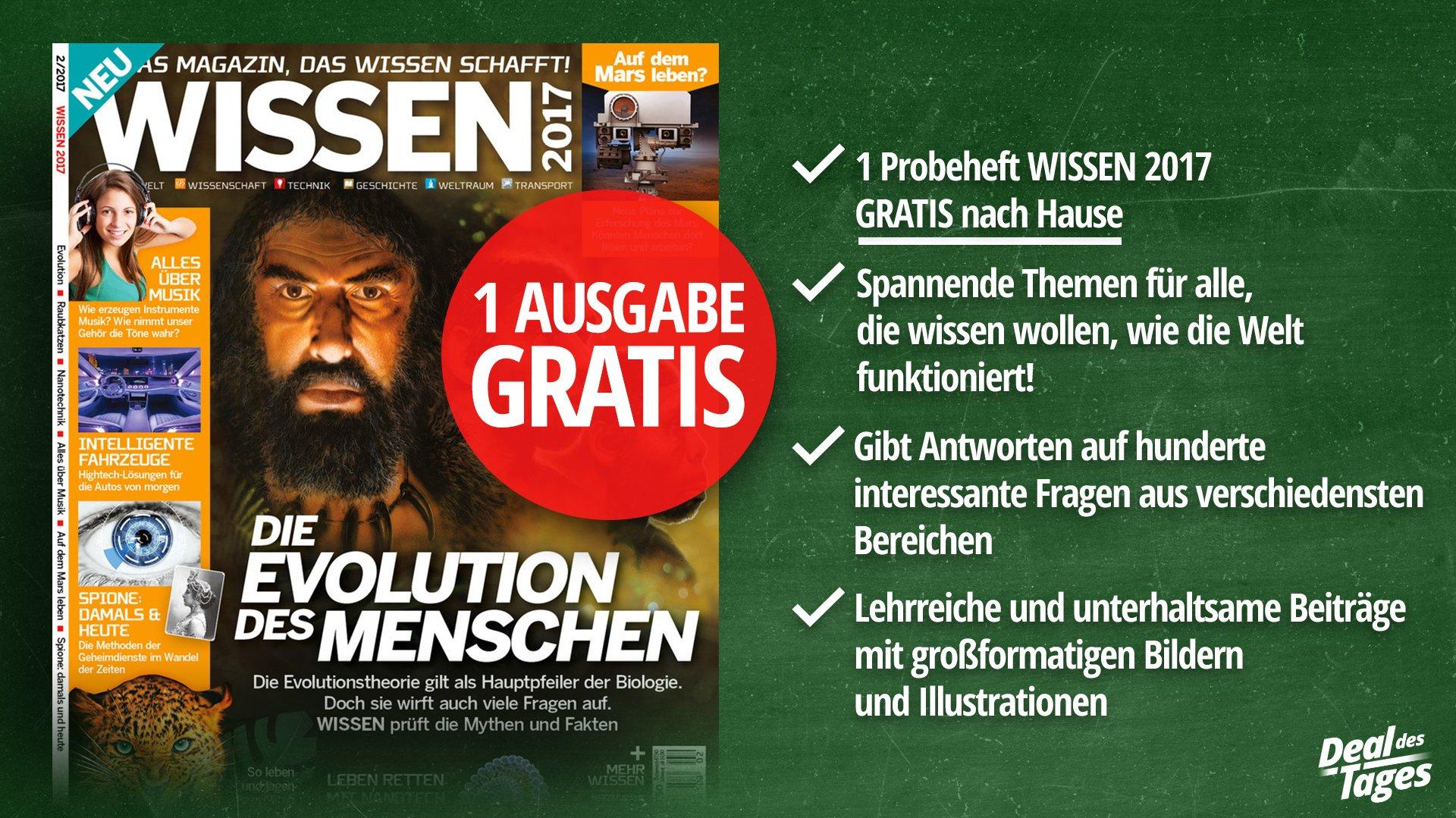 """(heise.de) 1 Ausgabe des Wissenschaftsmagazin """"Wissen"""" Gratis. Kündigung notwendig"""