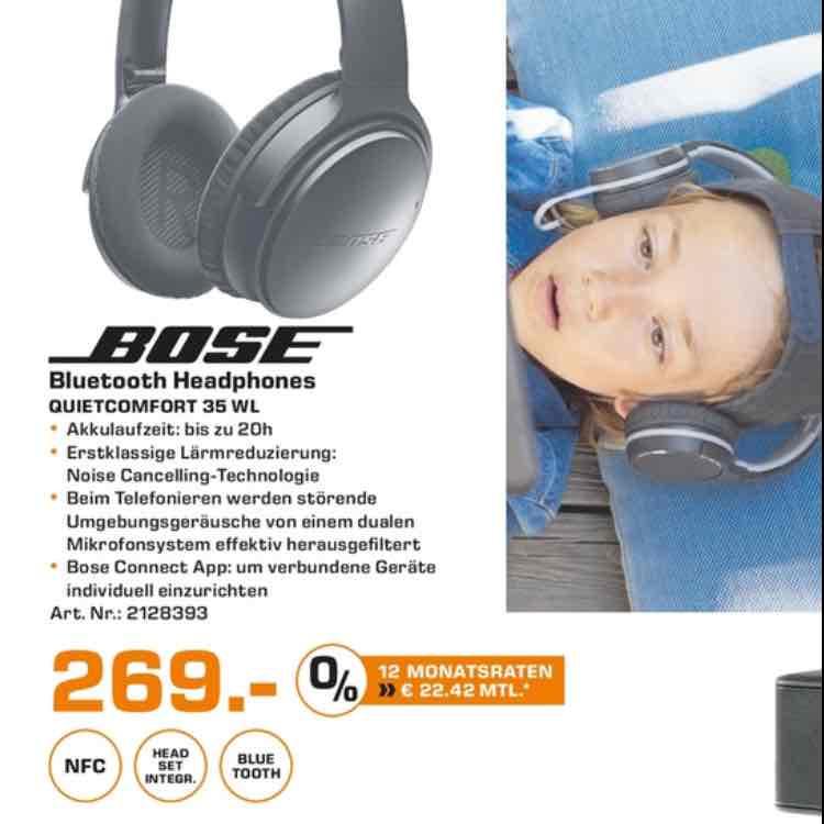 (Lokal Saturn Dortmund-Eving) Bose QuietComfort QC35 Bluetooth Kopfhörer