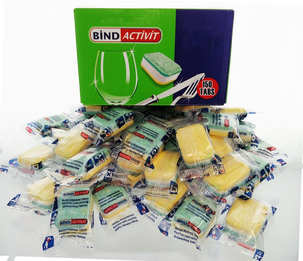 Bind Activit Spülmaschinentabs (0,04€) pro Stück 12x 50er Pack für 22,12 € + Versand bei Top12.de
