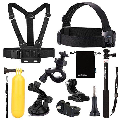 [Amazon] Luxebell 9 in 1 Zubehör-Kit für Action Cams für 10,99€ statt 24,99€
