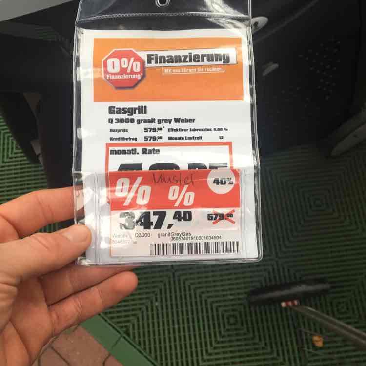 Weber Grill Q2400 /299,40€ Q3000 /347,42€