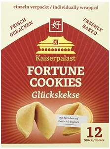 [Amazon Prime] Kaiserpalast Glückskekse, 6er Pack à 12 Stück (6 x 72 g Packung), somit 72 Kekse, Sparabo möglich