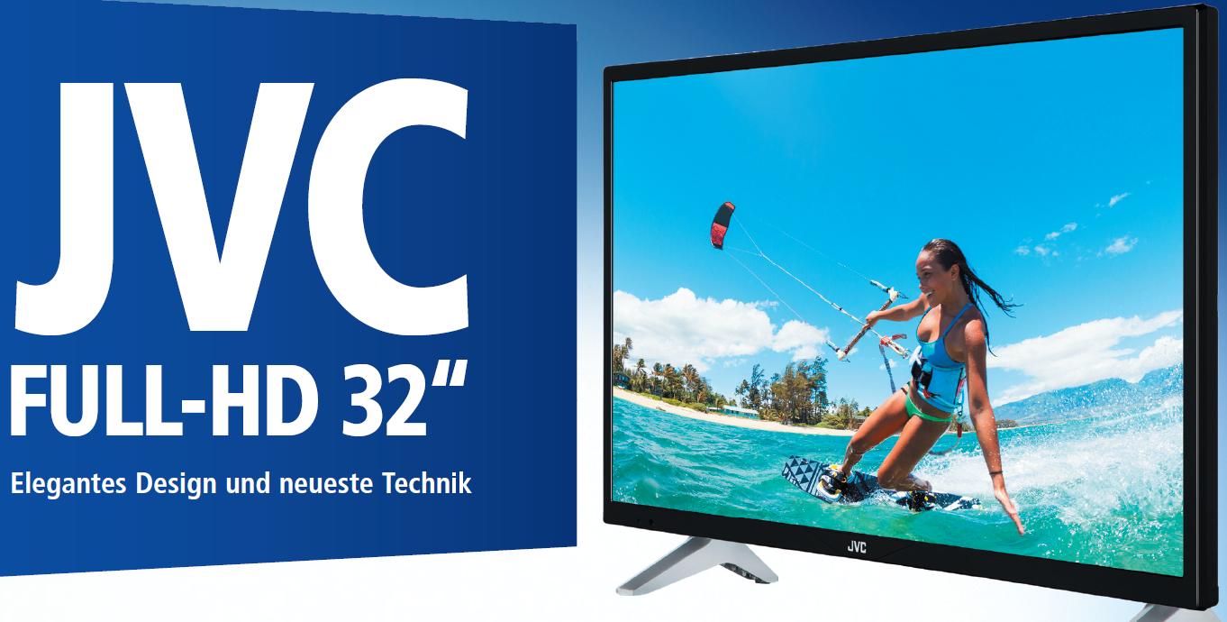 JVC LT-32V4200 Full HD LED-TV 32 Zoll mit Tripletuner (inkl. DVB-T2) - Kundenretoure wie neu - für 169,90 € / JVC LT-49V4200 49 Zoll Full HD für 299 € @ ebay Wow