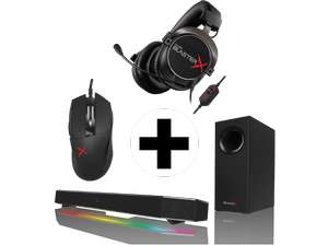 CREATIVE Sound BlasterX Gamingset (Headset+Audio-System+Maus) für 299€ [Mediamarkt.at]