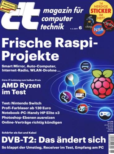 c't Magazin - 5 Ausgaben (Print oder digital) + Zugang zum Online Archiv + VR-Headset (i.W.v. ca. 13€) für zusammen 17€