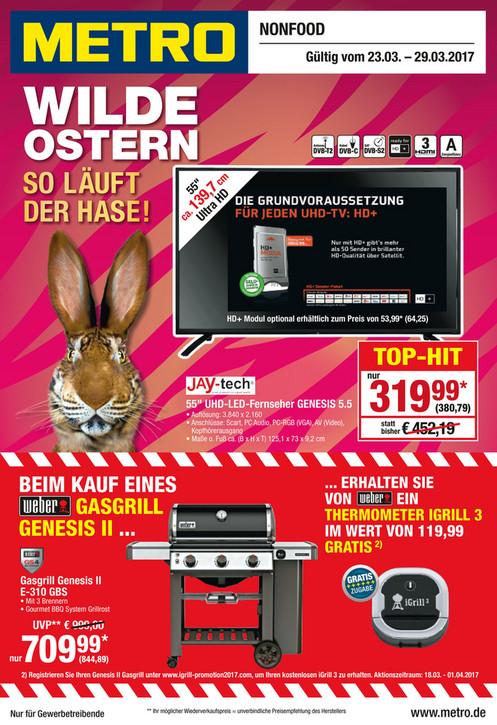 Weber Genesis II E-310 GBS via Bauhaus TPG wegen Metro Angebot + Weber Igrill³ gratis